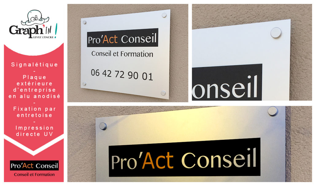 plaque extérieure en aluminium anodisé - Pro'Act conseil