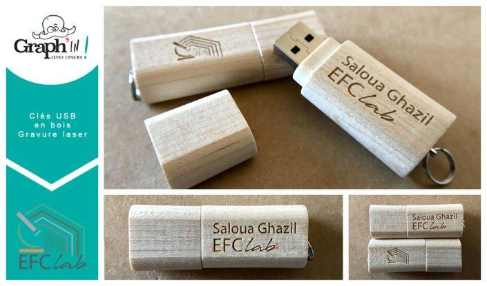 Clé USB personnalisée pour EFC Lab
