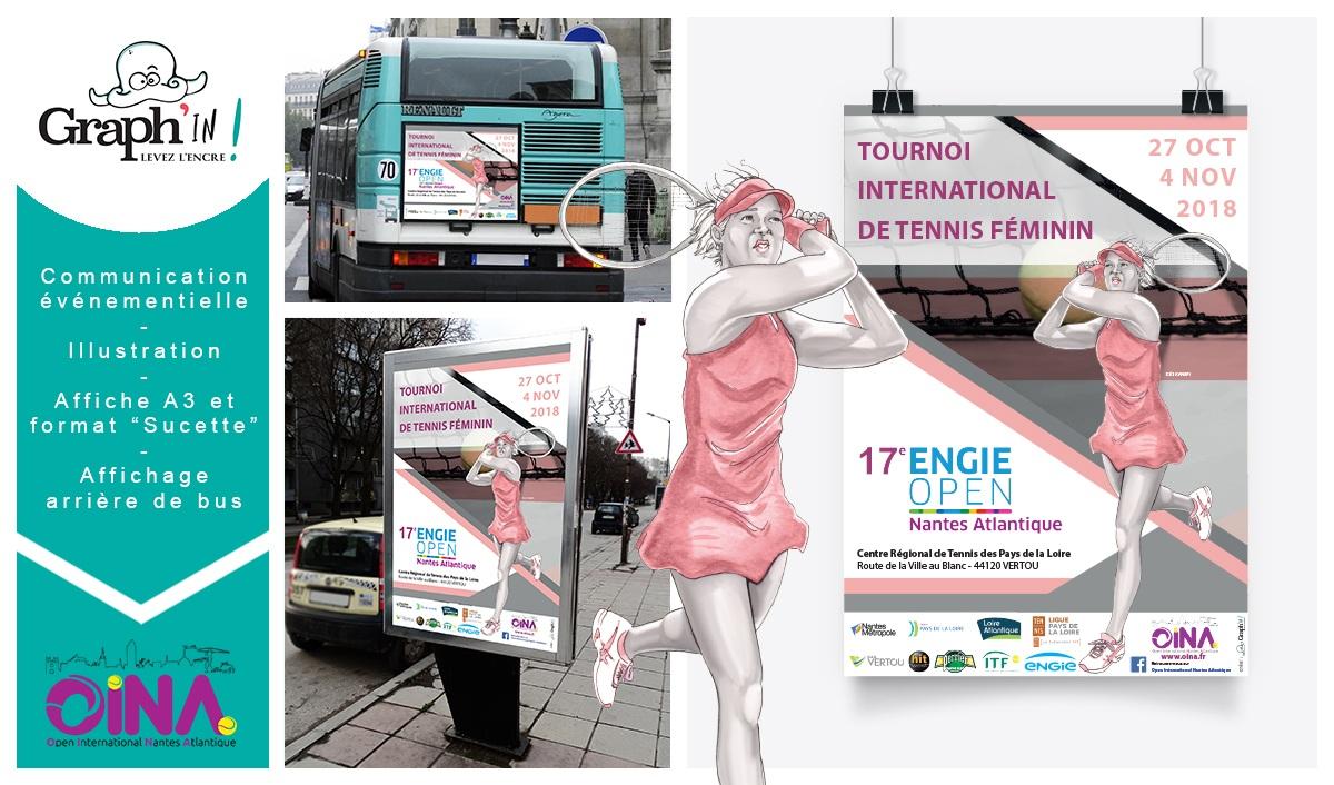 Affichage publicitaire à Nantes pour l'Open International Nantes Atlantique