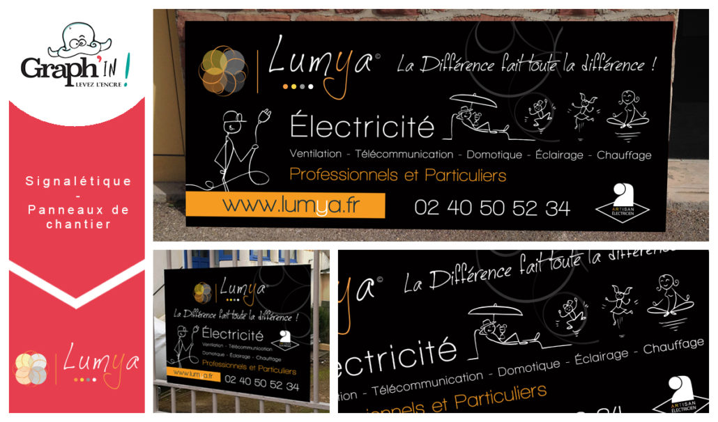 panneau de chantier pour Lumya