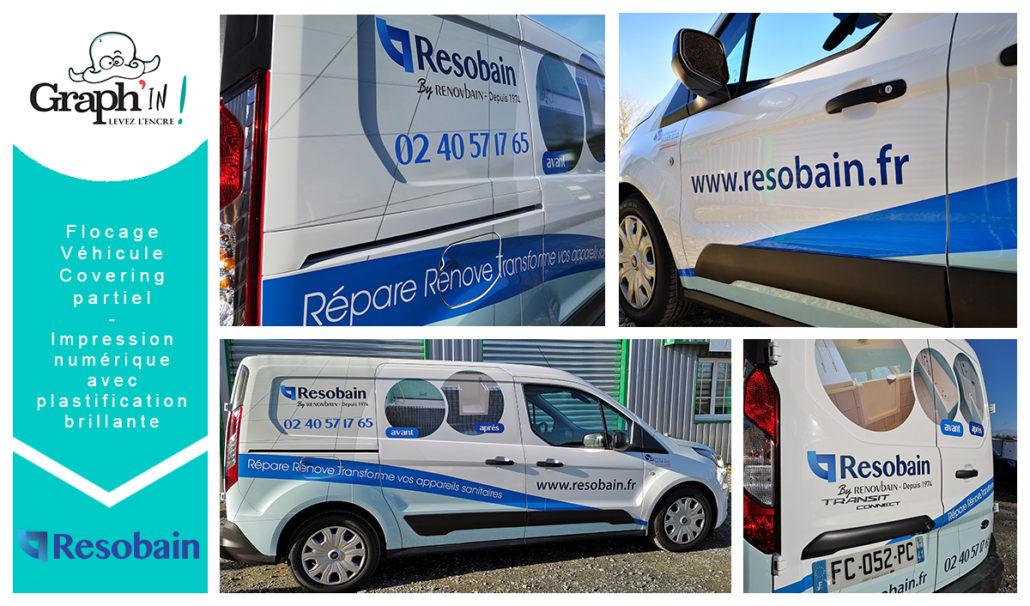 Marquage véhicule pour les utilitaires de Resobain