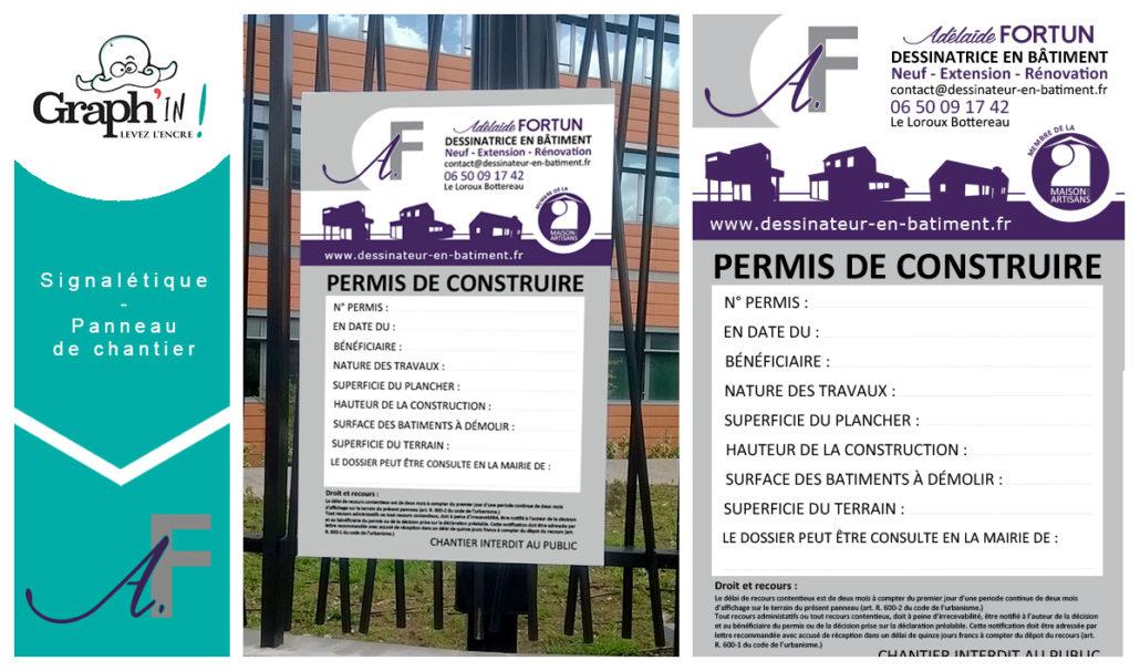 Panneau de chantier Adélaïde Fortun