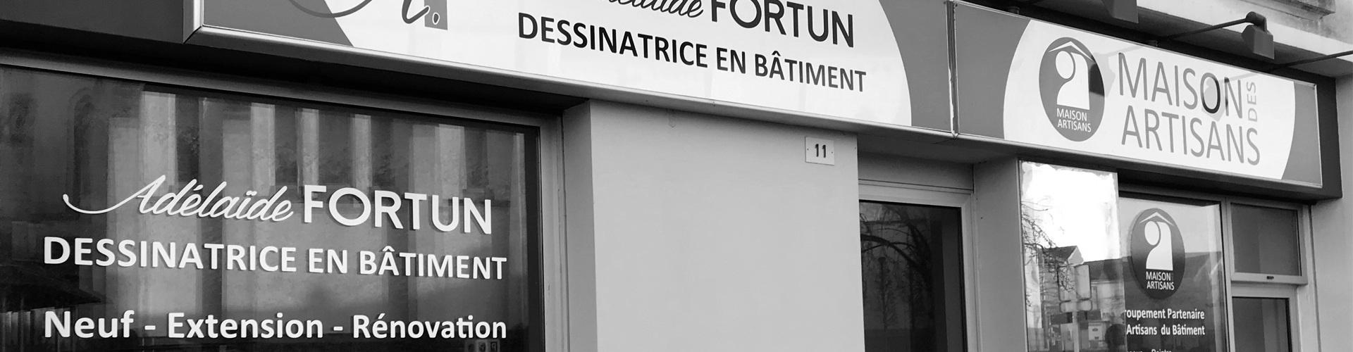 Enseigne adhésive lettres découpées Nantes