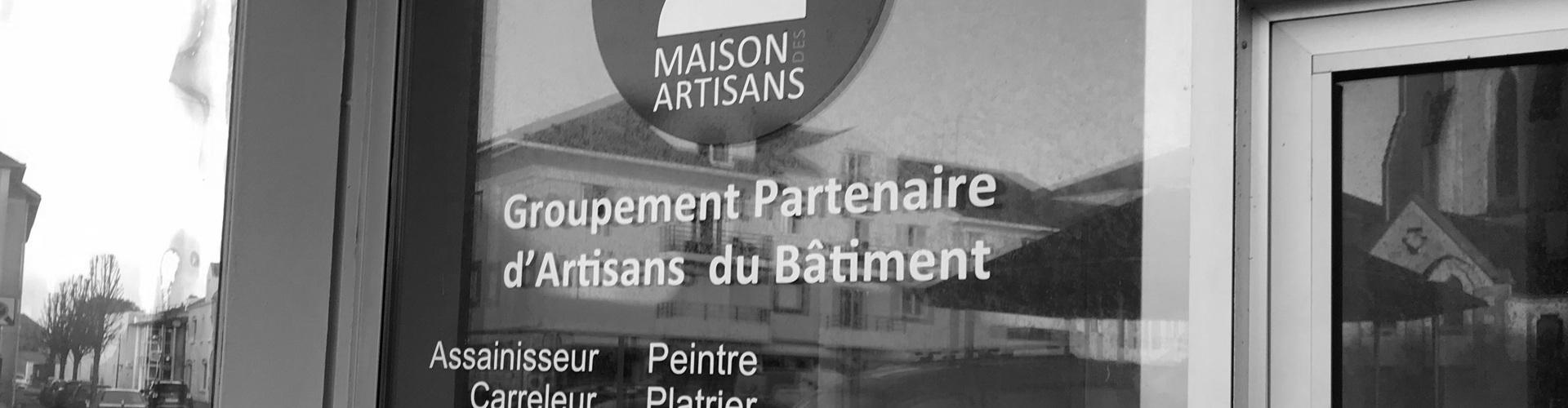 Enseigne adhésif lettres découpées Rennes