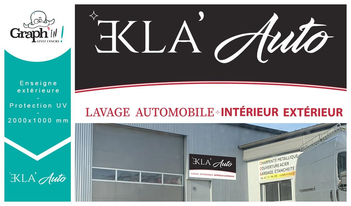 Enseigne en dibond pour Ekla Auto à Châteaubriant