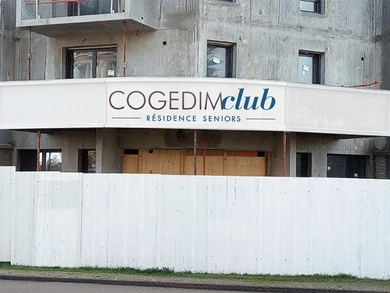 Enseigne en tôle-tablette pour Cogedim Club en Loire-atlantique