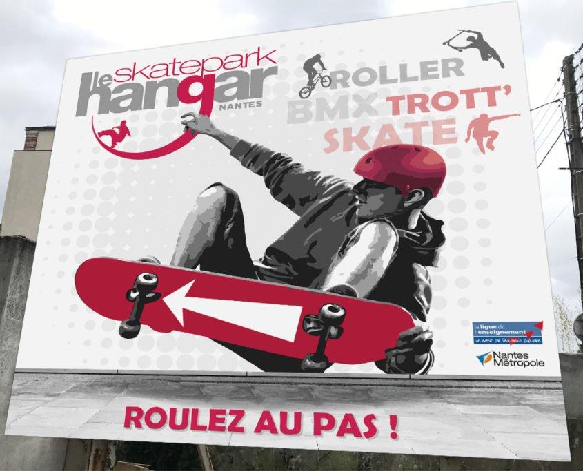 Panneaux de signalétique pour le Skatepark Le Hangar