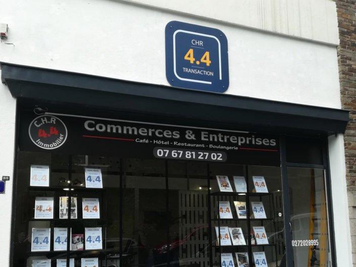 Enseigne en dibond pour 4.4 Transaction à Nantes