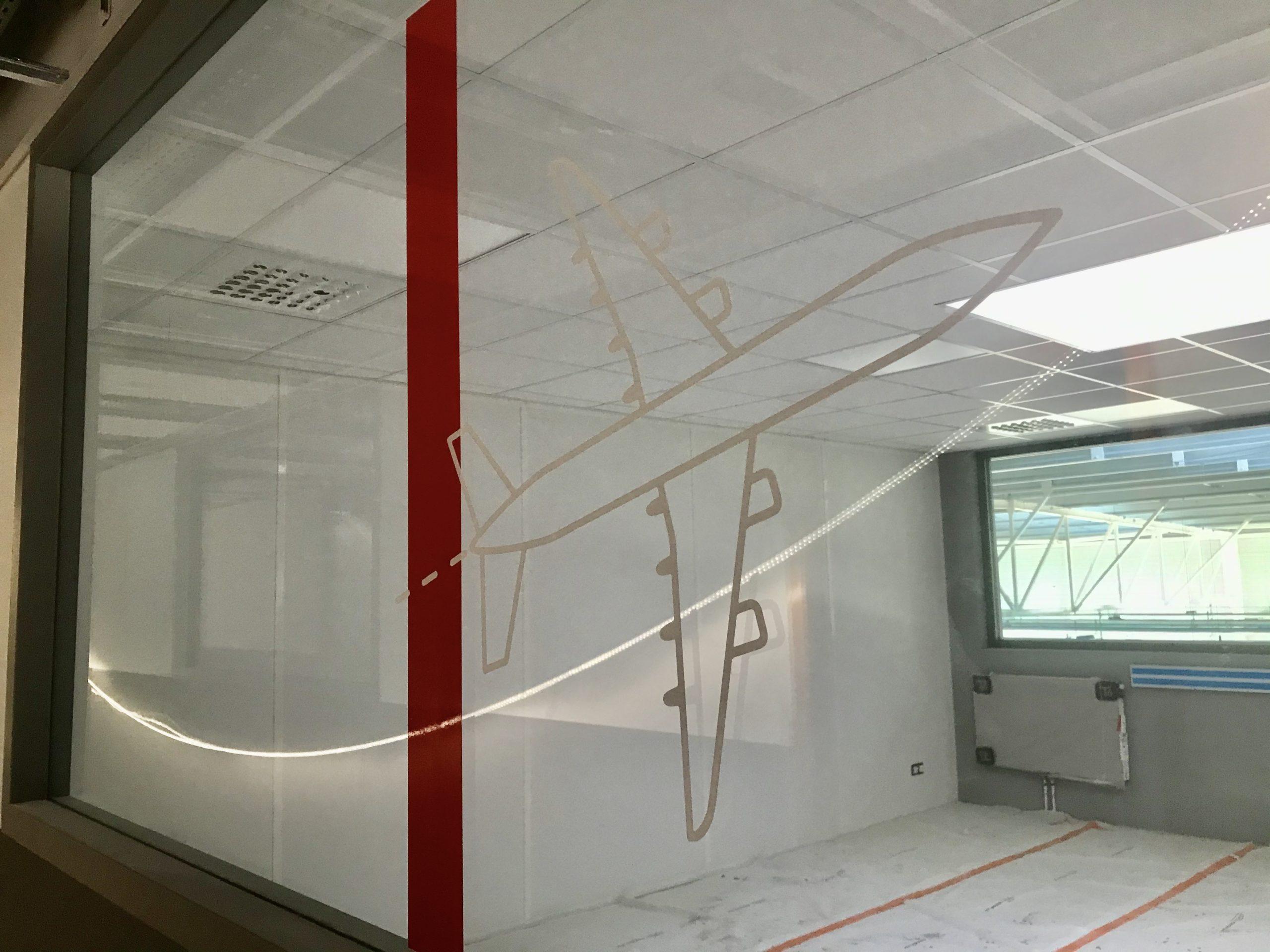 décoration adhésive pour les locaux du centre de formation UIMM